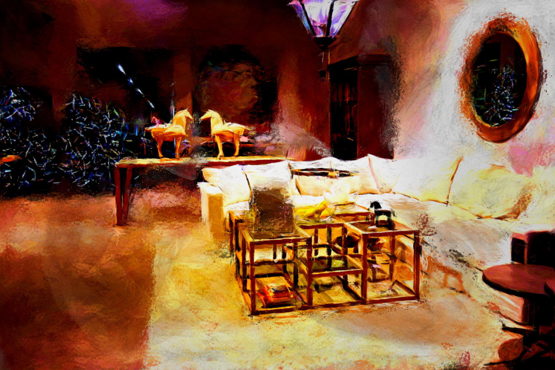 Peinture_de_Laure_Van_De_Meele_inspirée_par_Flamant_Home_Interiors