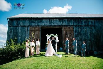 summer barn wedding