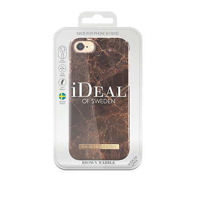 iDeal Of Sweden Fashion Case iPhone 8/7/6/6s, Brown Marble