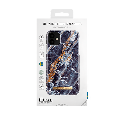 iDeal Of Sweden Fashion Case iPhone 11, Midnight Blue Marble