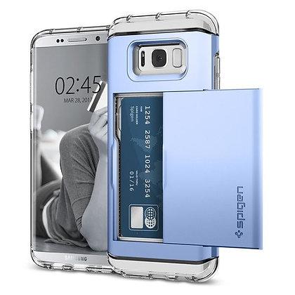 Spigen Samsung Galaxy S8 Plus Crystal Wallet, Blue Coral