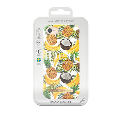 iDeal Of Sweden Fashion Case iPhone 8/7/6/6s, Banana Coconut