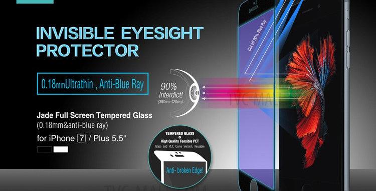 Devia iPhone 7 Screen Protector, MAX  Jade Glass Black
