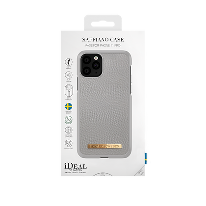 iDeal Of Sweden Fashion Case Saffiano iPhone 11 Pro, Light Grey