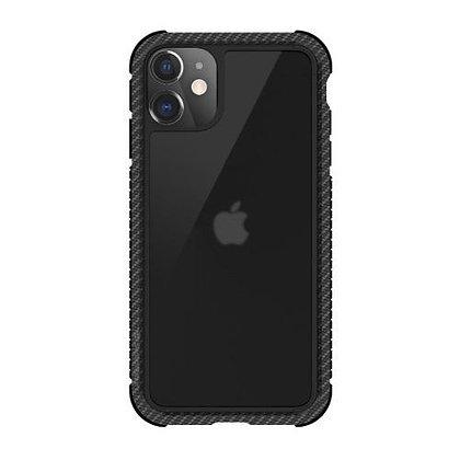 SwitchEasy iPhone 11 Glass Rebel Glass+TPU+Alu Case, Carbon Black
