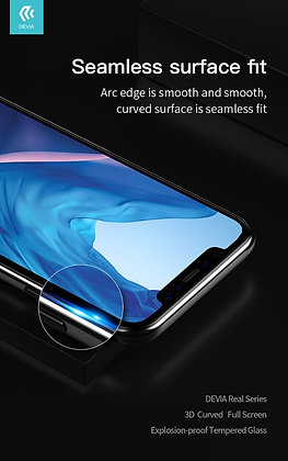 Devia iPhone 11 Pro Max  Tempered Glass,  Case Friendly Black