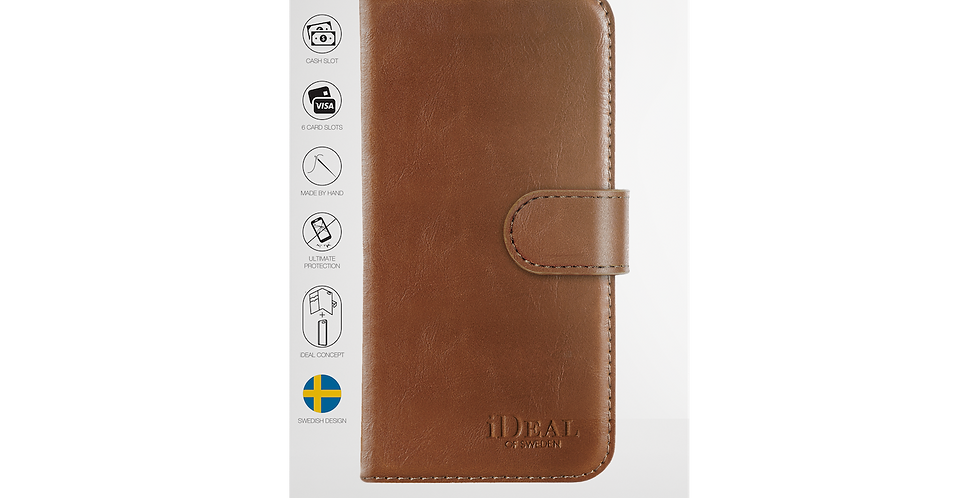 iDeal Of Sweden iPhone 8/7/6/6s Magnet Wallet Plus, Brown