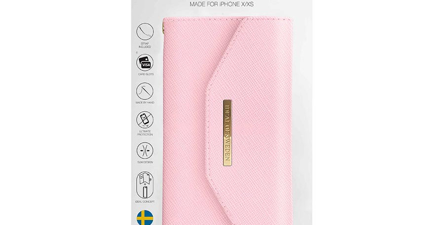 iDeal Of Sweden iPhone X Mayfair Clutch, Pink