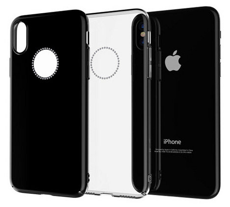 Comma iPhone X Crystal Shining Case, Black
