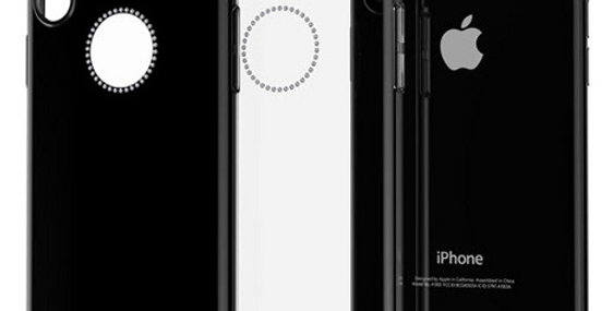 Comma iPhone X Crystal Shining Case, Black
