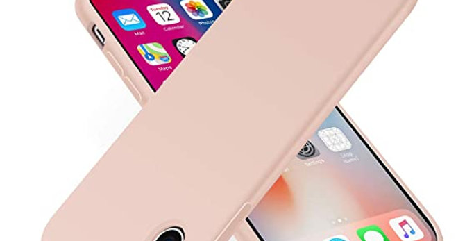 Devia iPhone Xs Ultra-Thin Silicone Case, Pink