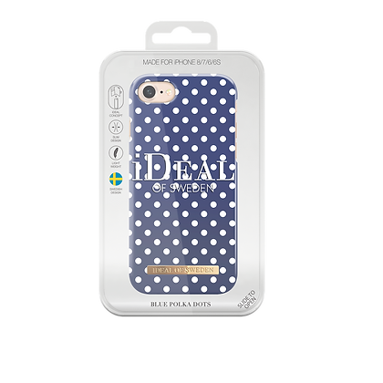 iDeal Of Sweden Fashion Case iPhone 8/7/6/6S, Blue Polka Dots