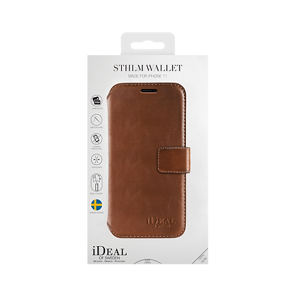 iDeal Of Sweden iPhone 11 STHLM Wallet, Brown