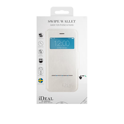 iDeal Of Sweden Swipe Wallet iPhone 8/7/6/6s, White