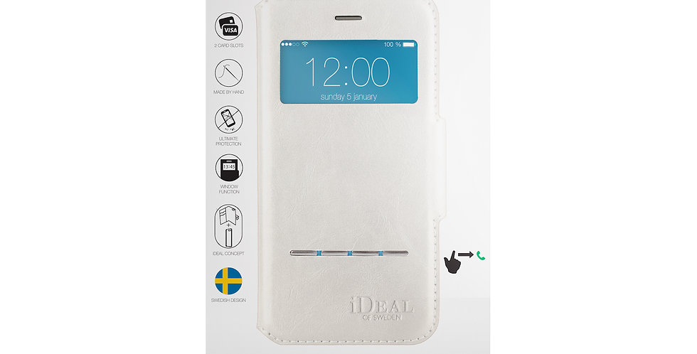 iDeal Of Sweden iPhone 8/7/6/6s Swipe Wallet, White