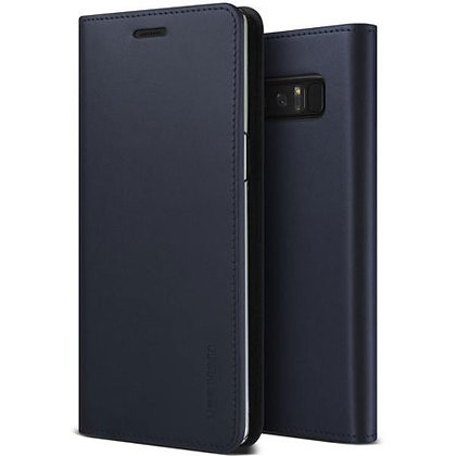 VRS Design Samsung Galaxy Note 8 Genuine Cowhide Leather, Navy