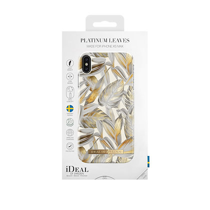 iDeal Of Sweden Fashion Case  iPhone Xs Max, Platinum Leaves