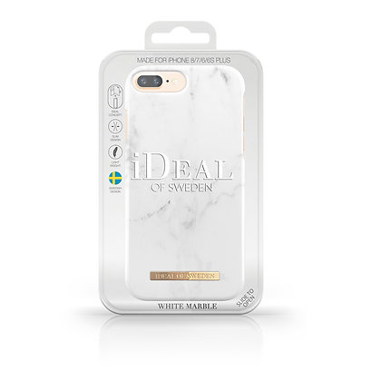 iDeal Of Sweden Fashion Case iPhone 8/7/6/6s Plus, White Marble