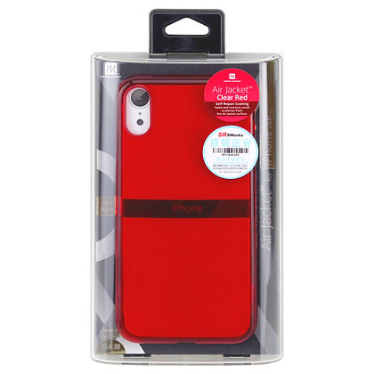 Power Support iPhone XR Air Jacket, Clear Red