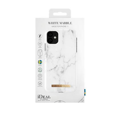 iDeal Of Sweden Fashion Case iPhone 11, White Marble