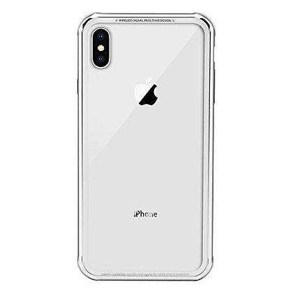 SwitchEasy iPhone Xs Max Glass X TPU+Glass Case, White