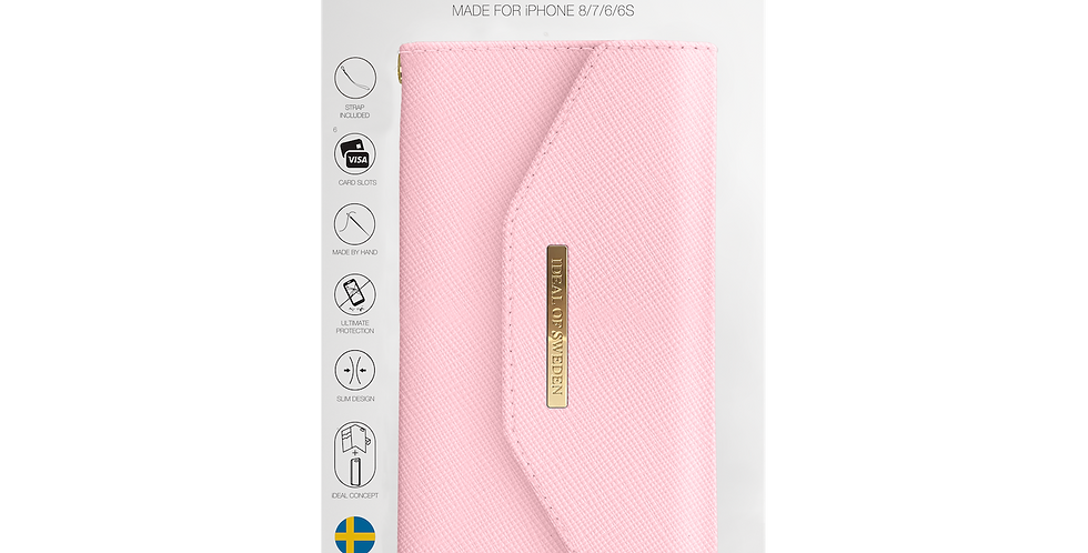 iDeal Of Sweden iPhone 8/7/6/6s Mayfair Clutch, Pink