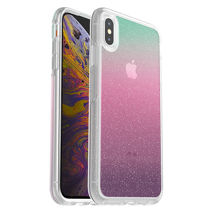 OtterBox Symmetry Clear iPhone Xs Max, Graphic Gradient Energy