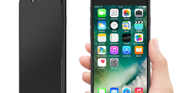 Devia iPhone 7 Screen Protector, MAX Privacy Tempered Glass Black
