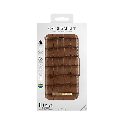 iDeal Of Sweden Fashion Wallet Capri & Como iPhone 11 Pro, Brown