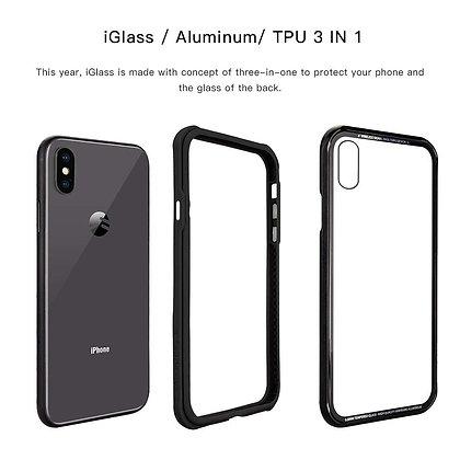 SwitchEasy iPhone Xs Max Glass X TPU+Glass Case, Black