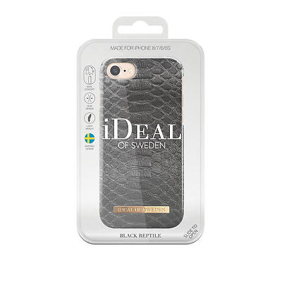iDeal Of Sweden Fashion Case  iPhone 8/7/6s/6, Black Reptile