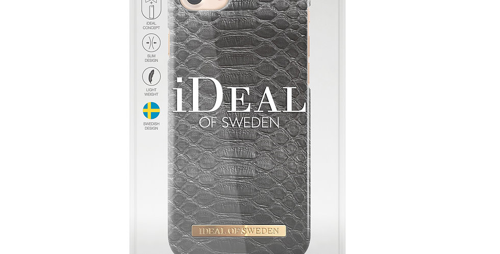 iDeal Of Sweden iPhone 8/7/6s/6 Fashion Case, Black Reptile