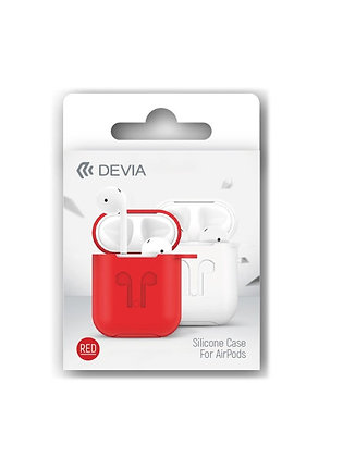 Devia AirPods Pro Naked Silicone Case Suit, Red