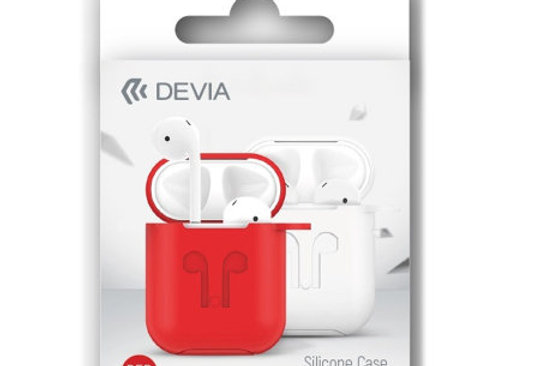 Devia AirPods Naked Silicone Case Suit, Red