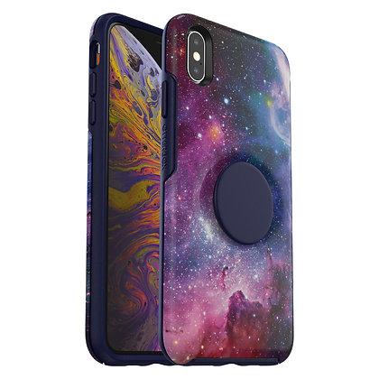 OtterBox Symmetry Otter + Pop iPhone Xs Max, Blue Nebula