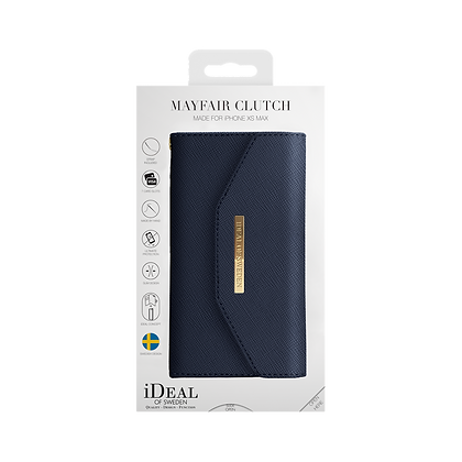 iDeal Of Sweden Mayfair Clutch iPhone Xs Max, Navy