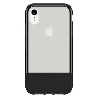 OtterBox Statement Series iPhone XR, Lucent Black (Clear/Black)