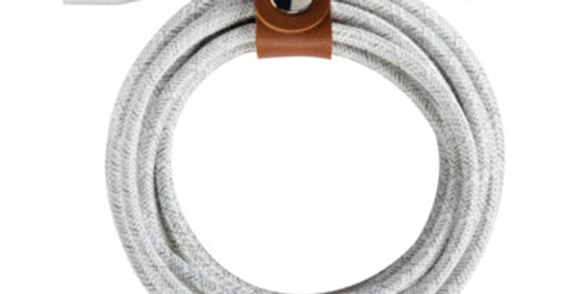 "Belkin USB-C to Lightning Duratek Plus Cable (4""), White"