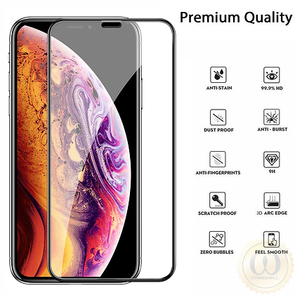 Devia iPhone 11 Pro Max Tempered Glass,  Curved Black
