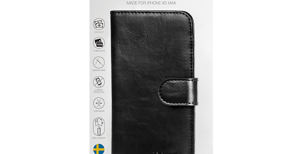 iDeal Of Sweden iPhone Xs Max Magnet Wallet Plus, Black