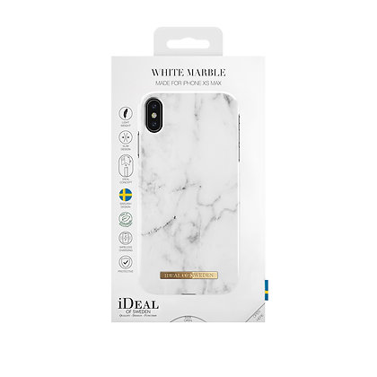 iDeal Of Sweden Fashion Case iPhone Xs Max, White Marble