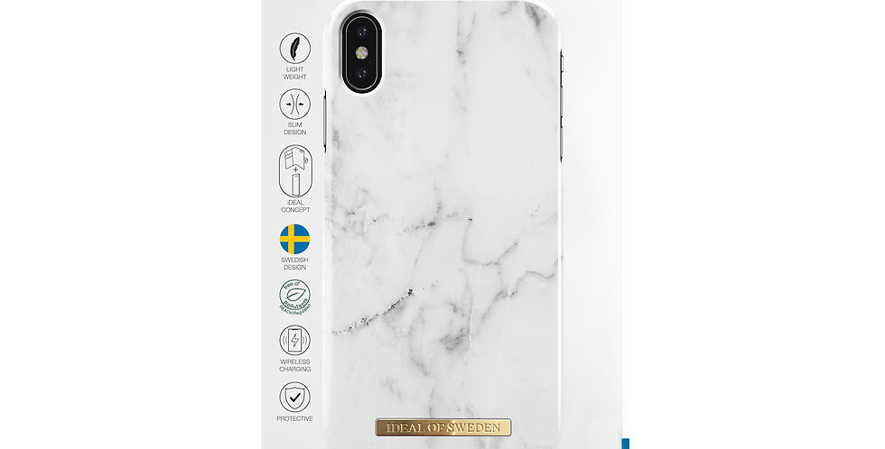 iDeal Of Sweden iPhone Xs Max Fashion Case, White Marble