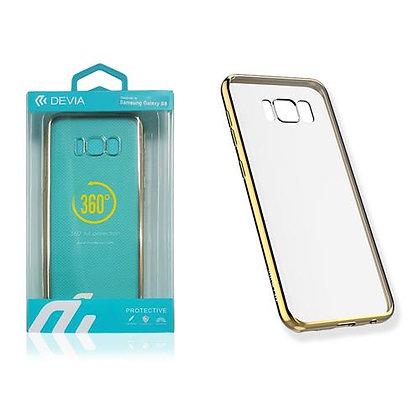 Devia Samsung Galaxy S8 Glitter Soft Case, Champagne Gold