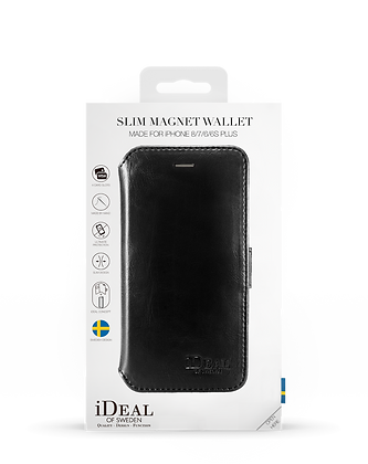 iDeal Of Sweden Slim Magnet Wallet iPhone 8/7/6/6s Plus, Black