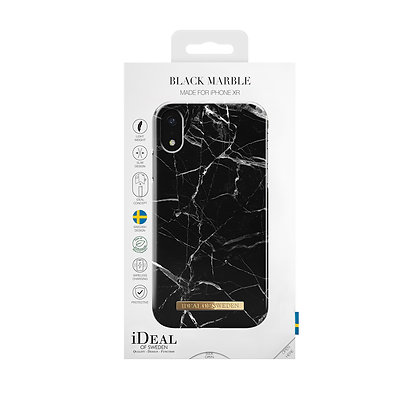iDeal Of Sweden Fashion Case iPhone XR, Black Marble