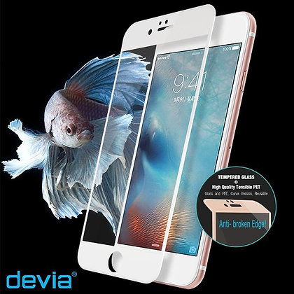 Devia iPhone 6s/6 Screen Protector, MAX Jade Glass  Pure Whit