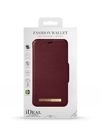 iDeal Of Sweden Fashion Wallet iPhone 11 Pro/XS/X, Burgundy