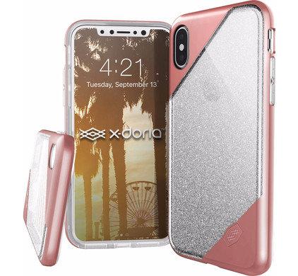 X-Doria iPhone X/Xs Revel Lux, Rose Gold Glitter