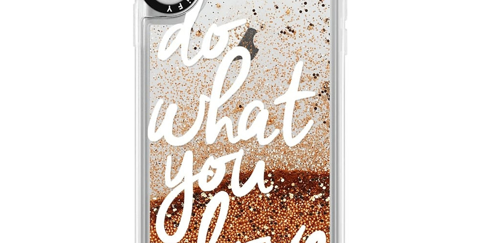 Casetify iPhone X/Xs Glitter Case, Gold Chrome Do What You Love