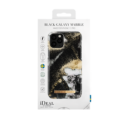 iDeal Of Sweden Fashion Case 2019 iPhone 11 Pro, Black Galaxy Marble